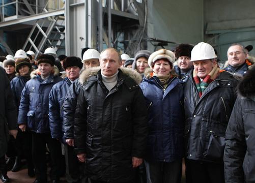 Путин на заводе